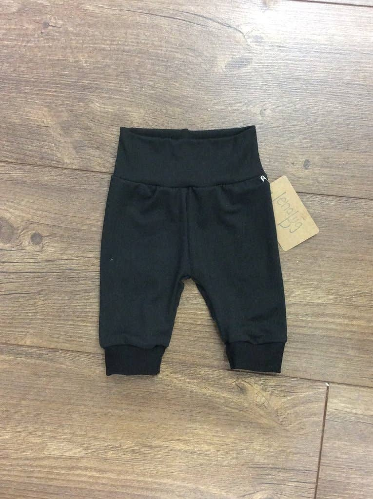 Baby joggers, solid black : Jena Bug Baby Boutique