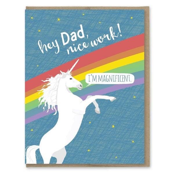 Dad Magnificent Unicorn card
