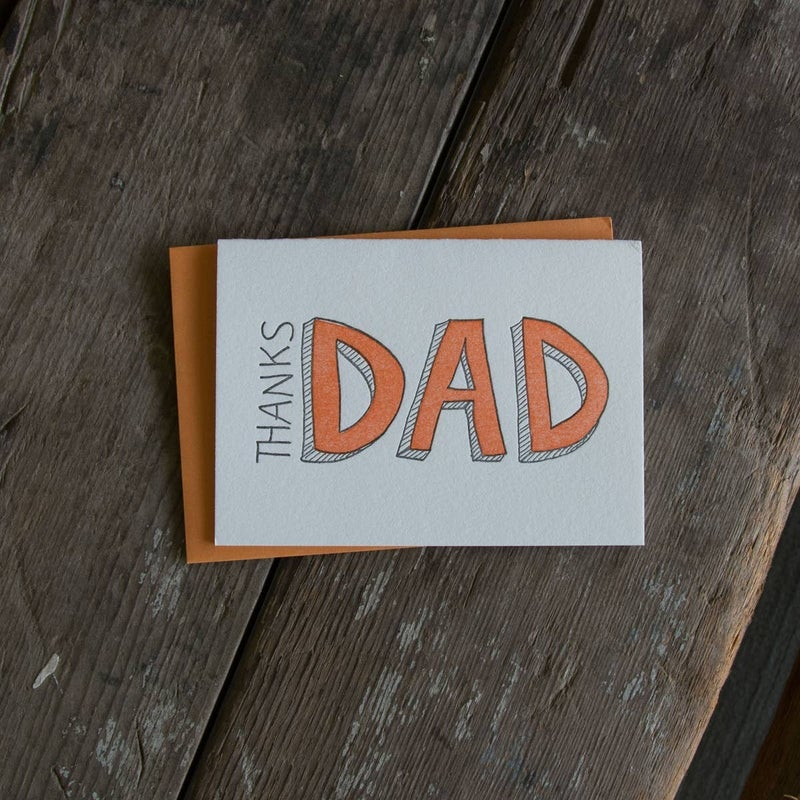 'Thanks Dad' Happy Father's Day Card