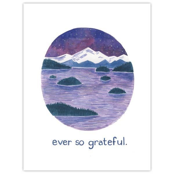 'Ever so grateful' thank you card