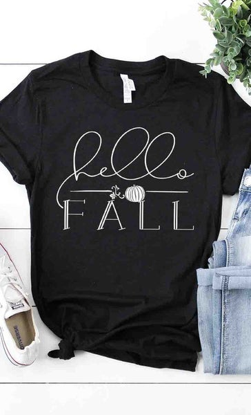 'Hello Fall' graphic tee