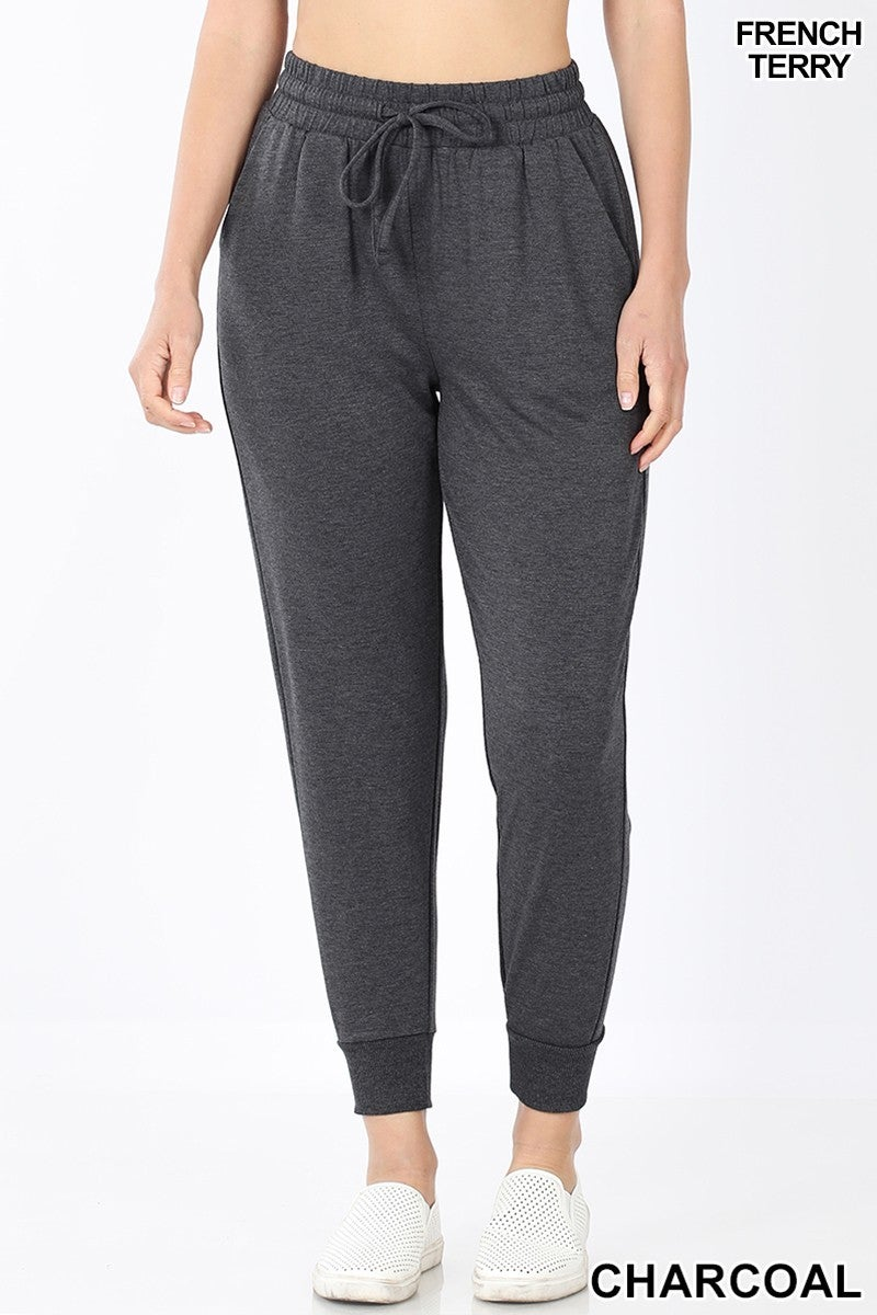 French terry capri joggers