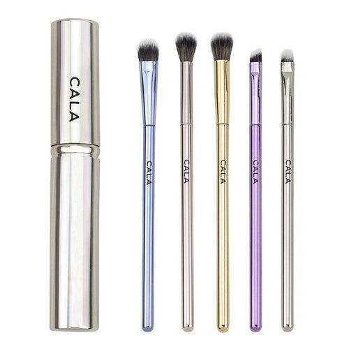 CALA 5-piece makeup brush kit and travel case