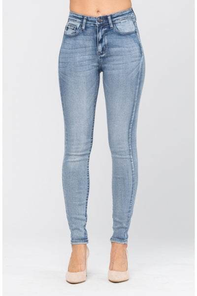 Judy Blue Light-Wash High-Rise Handsand Jeans