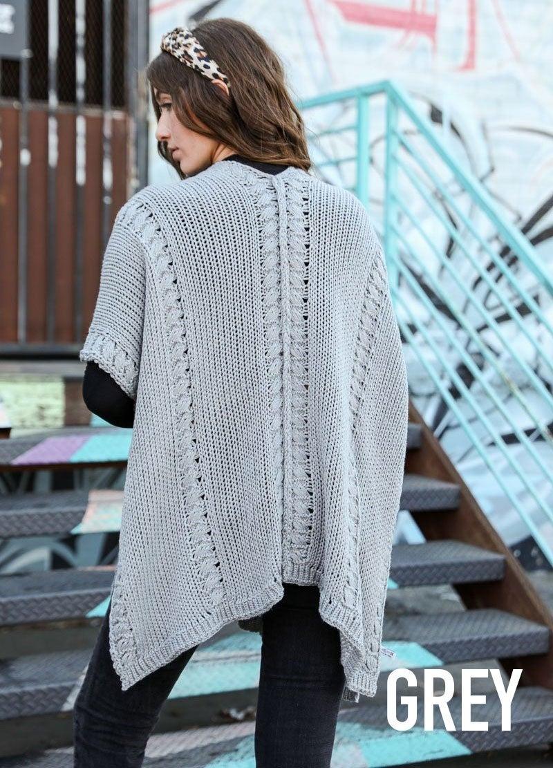 Cozy knit ruana