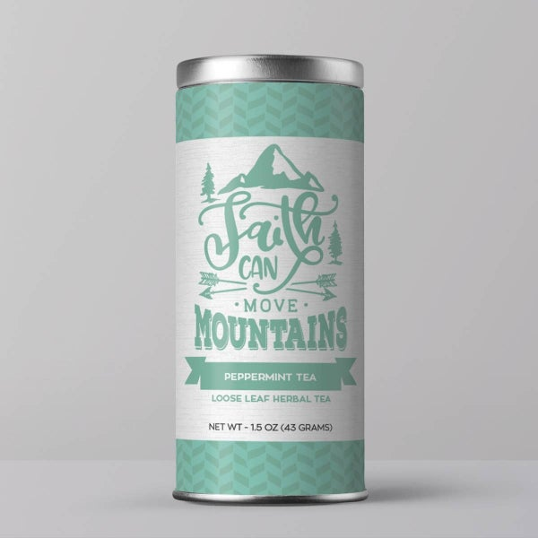 "Bible Verse Tea ""Faith Can Move Mountains"" Peppermint Tea : Little Prayer Tea Co."