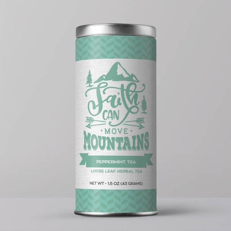 """Bible Verse Tea """"Faith Can Move Mountains"""" Peppermint Tea : Little Prayer Tea Co."""