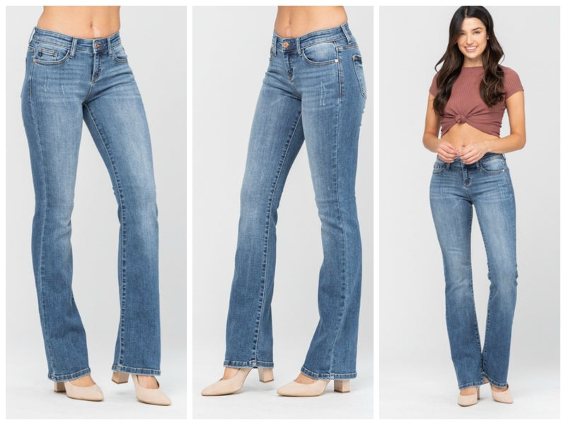 Judy Blue Mid-Rise Bootcut Jeans