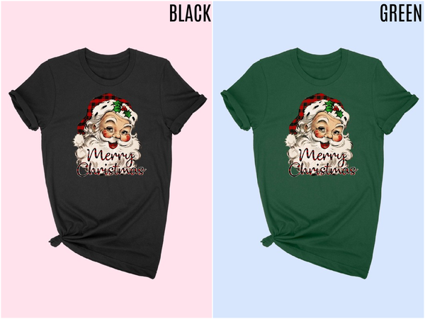 'Merry Christmas' Santa graphic tee