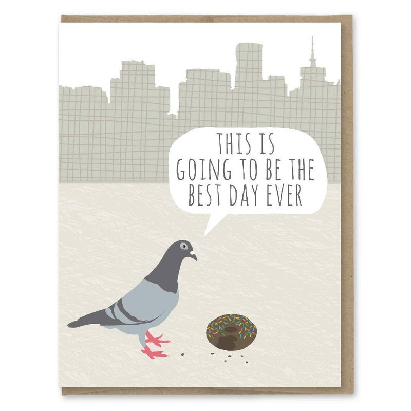 Pigeon Donut Birthday Card