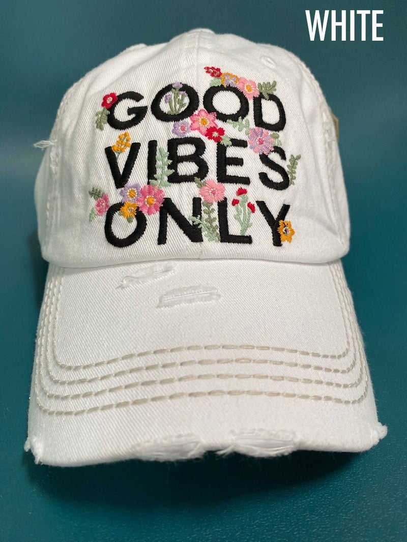 'Good Vibes Only' baseball hat