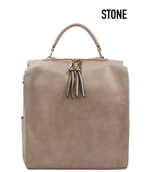 Trendy convertible shoulder backpack bag