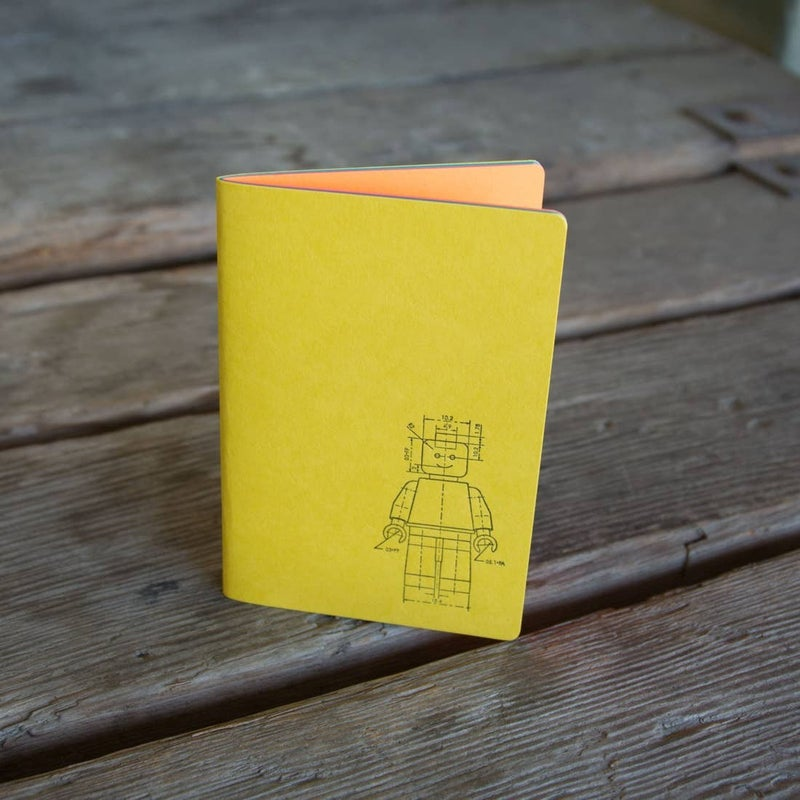 Minifig Notebook, letterpress printed and hand bound