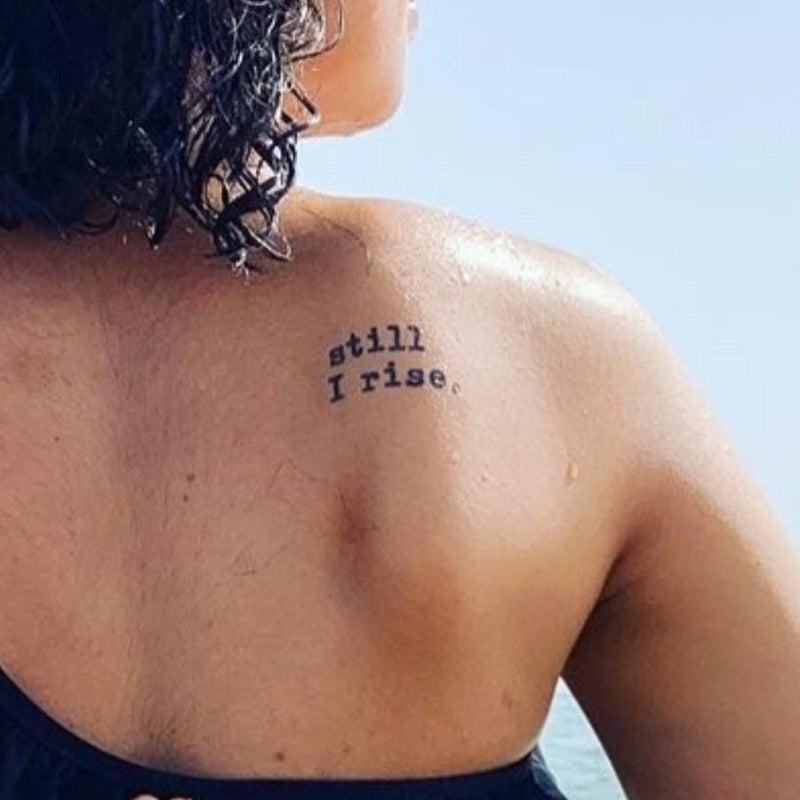 'Still I Rise' Manifestation Tattoo - 2 pack
