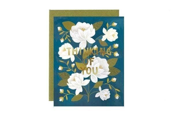 """""""Thinking of You"""" Floral Friendship Greeting Card"""