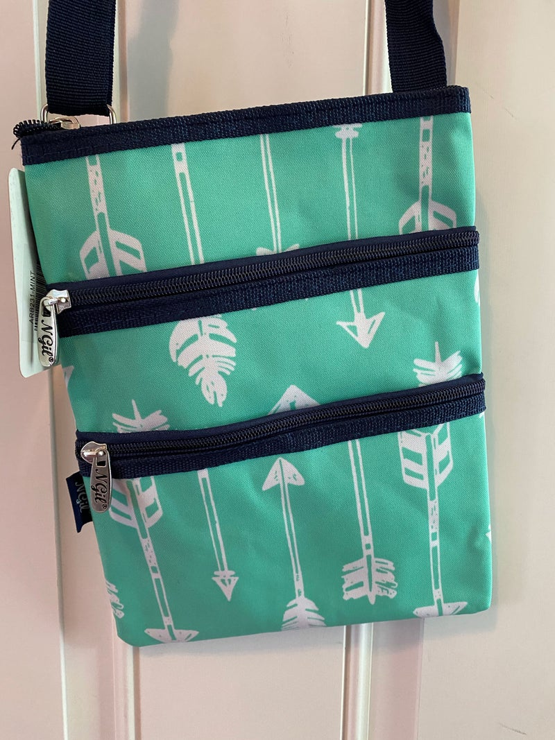 Mint arrow crossbody bag