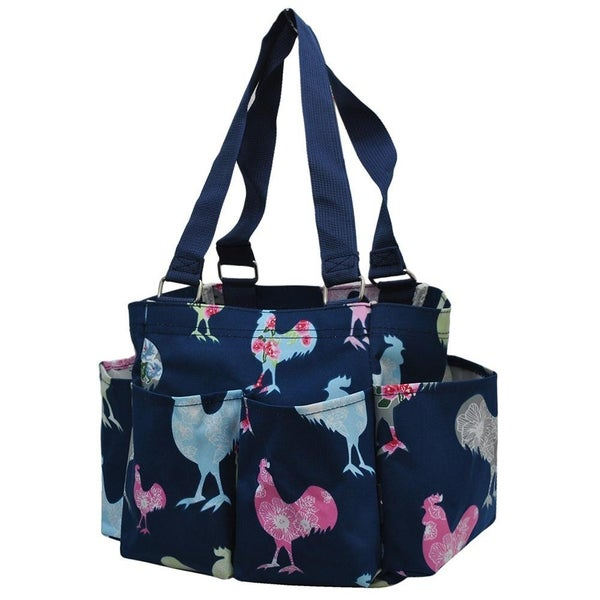 Floral Chicken Utility Tote