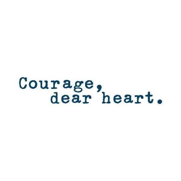 'Courage, Dear Heart' Manifestation Tattoo - 2 Pack