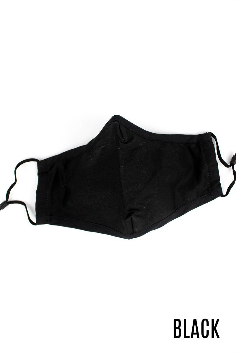 Two-layer adult face mask with filter pocket