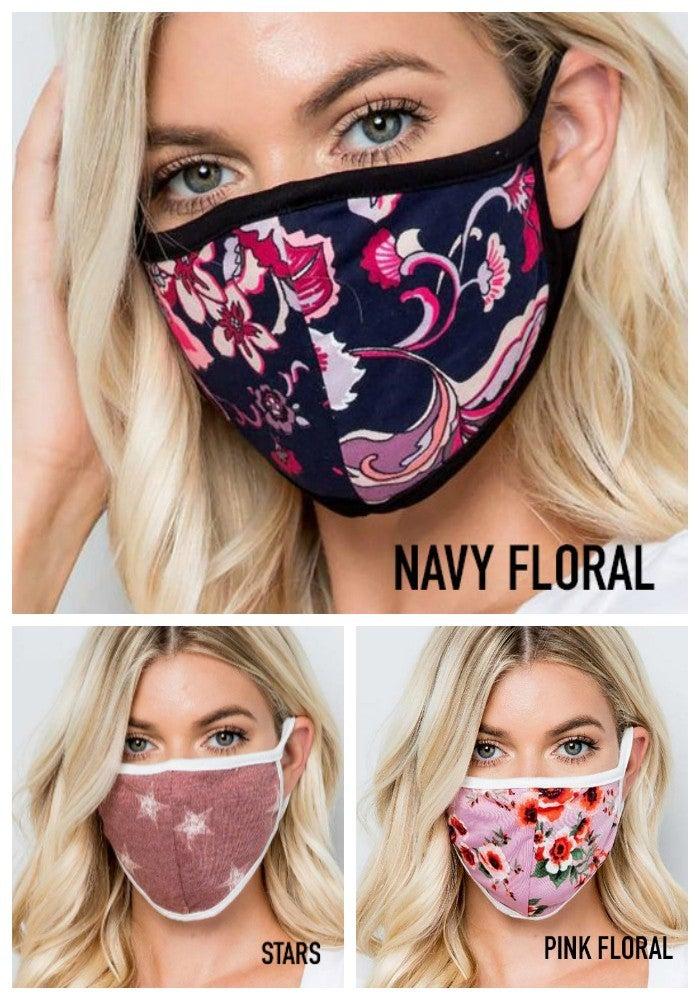 Cotton patterned masks (USA made)
