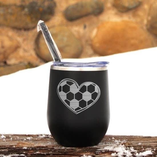 Soccer Wine Tumbler