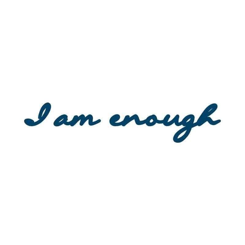 'I am Enough Script' Manifestation Tattoo - 2 pack