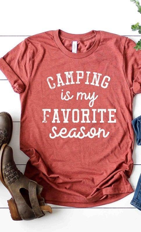 """Camping is my favorite season"" Graphic Tee"