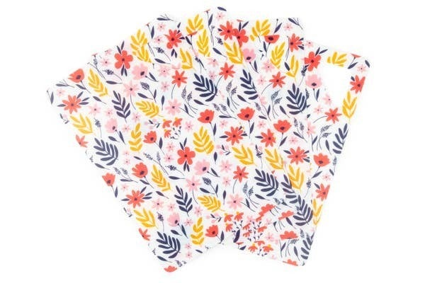 Core Kitchen Flexi Non-Slip Cutting Mat 4 Pack - Floral