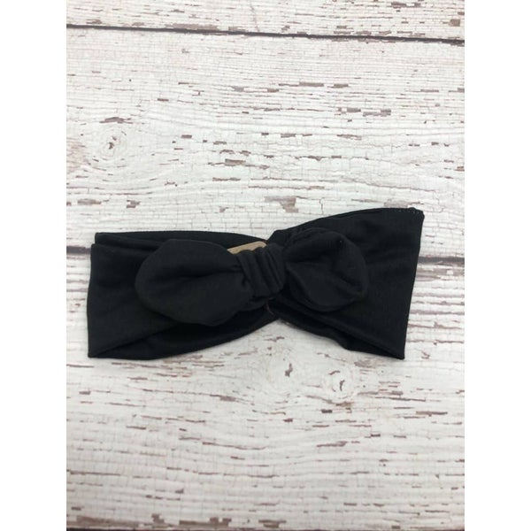 Black Knot Bow Headband : Jena Bug Baby Boutique