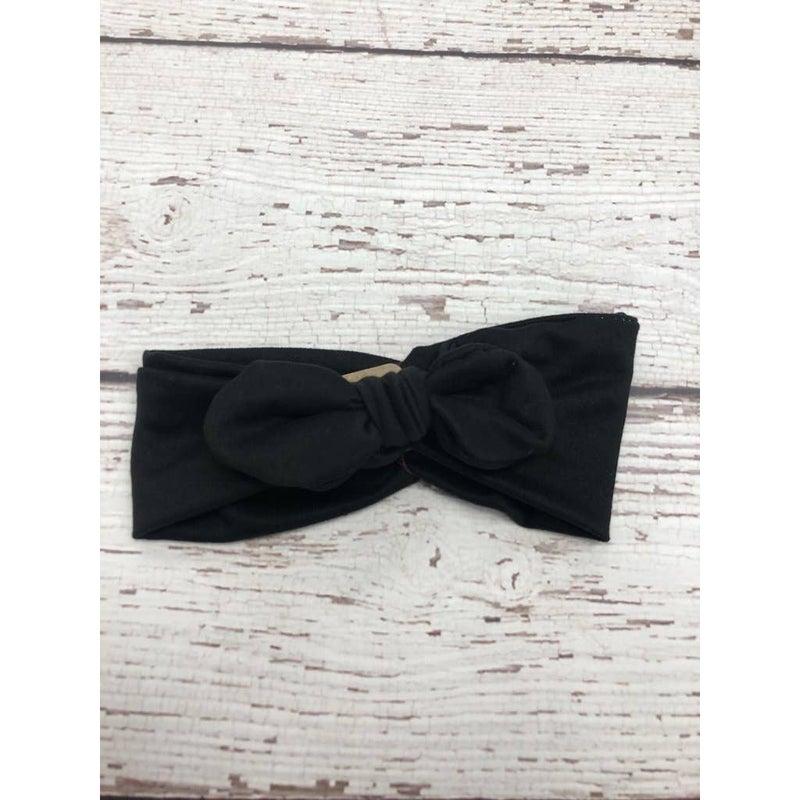 Black Knot Bow Headband : Jena Bug Baby Boutique