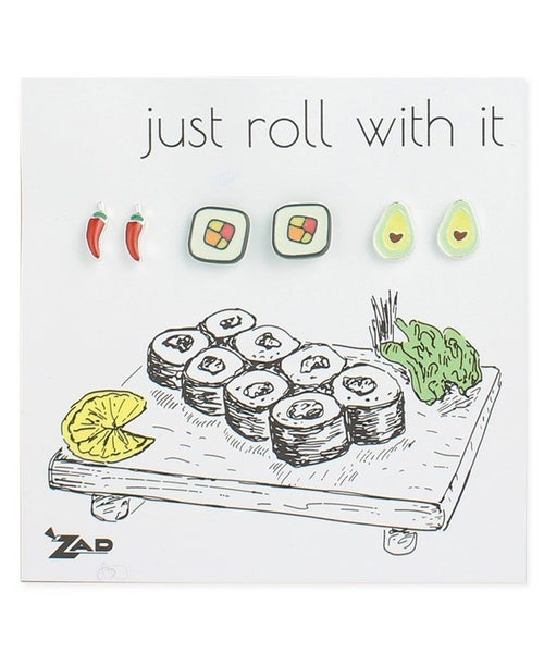 "Sushi ""Just Roll With It"" Earrings"