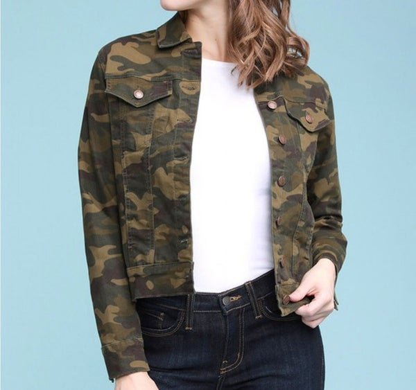 Judy Blue camo denim jacket