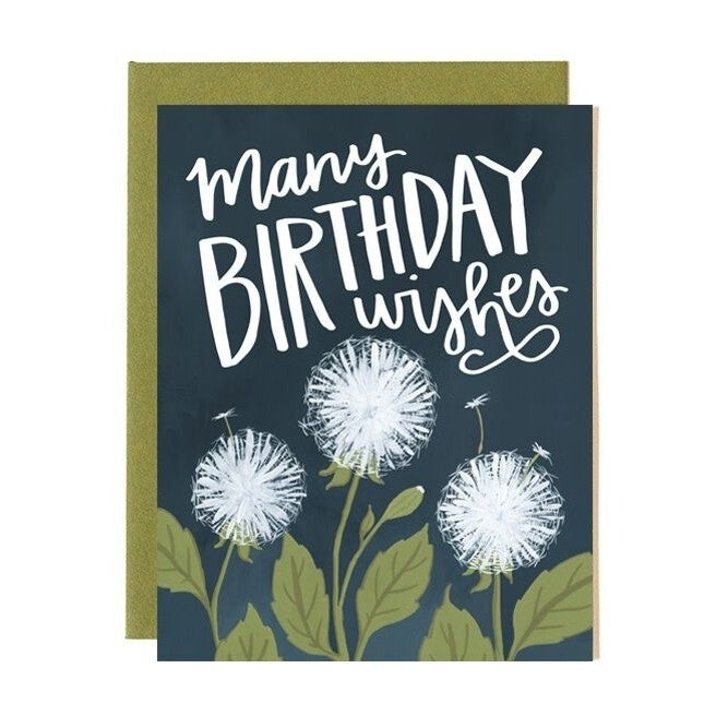 Dandelion Birthday Greeting Card