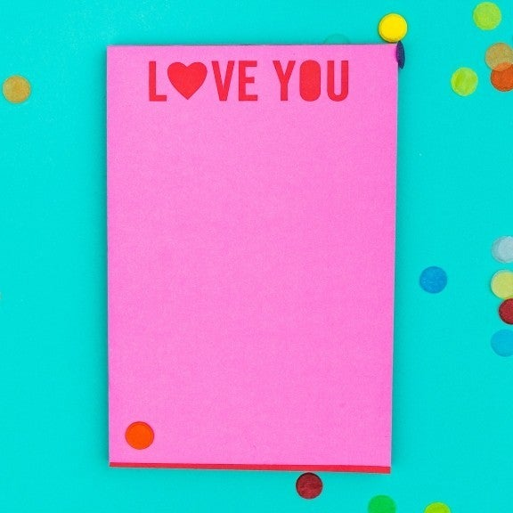 """""""Love You"""" Notepad"""