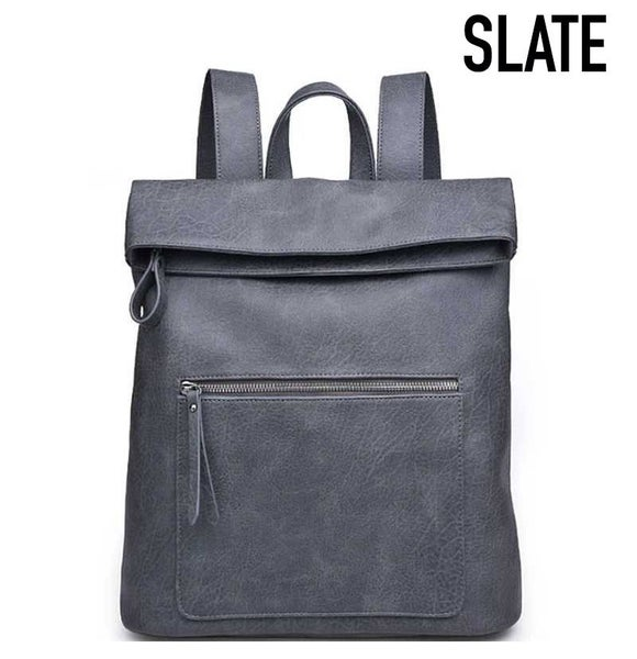 Urban Vegan Leather Backpack with Shoulder Strap
