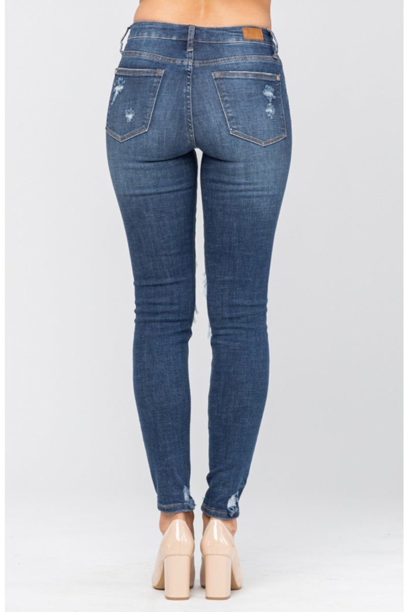 Judy Blue Patched Destroyed Jeans