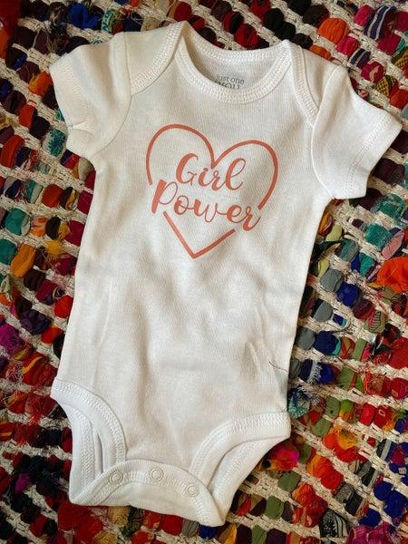 Girl Power Infant Bodysuit Short-Sleeve