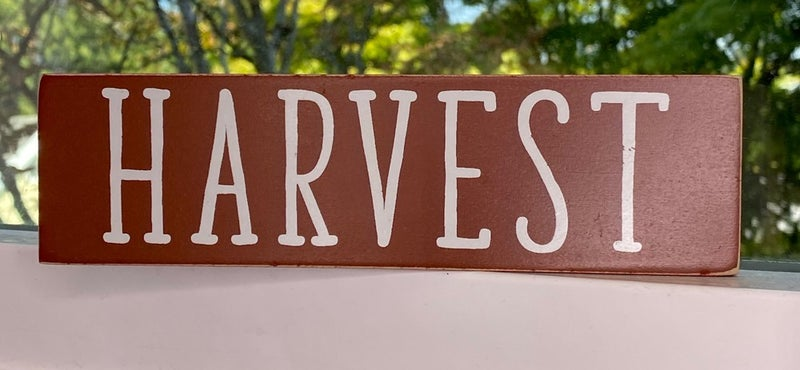 "Wooden Fall and Harvest Signs 2"" x 7.5"" *Final Sale*"