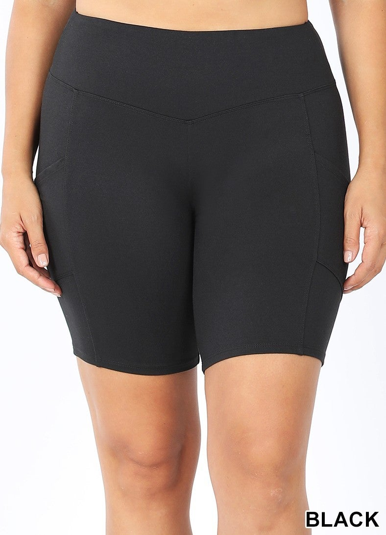 Brushed microfiber bike shorts - with pockets!