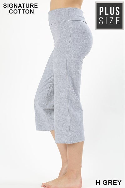 Fold-over Yoga Capri Pants