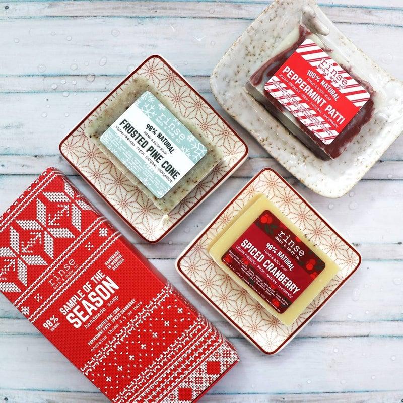 "Holiday Soap Gift Set ""Sample the Season"" : Rinse Bath & Body Co"