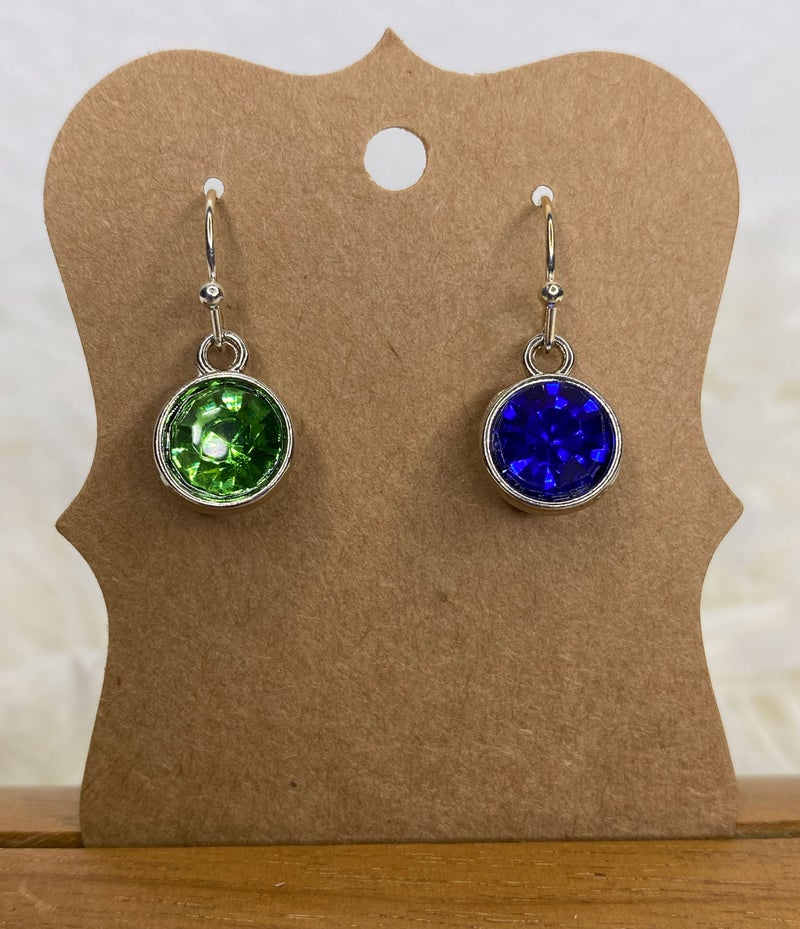 Seahawks crystal earrings