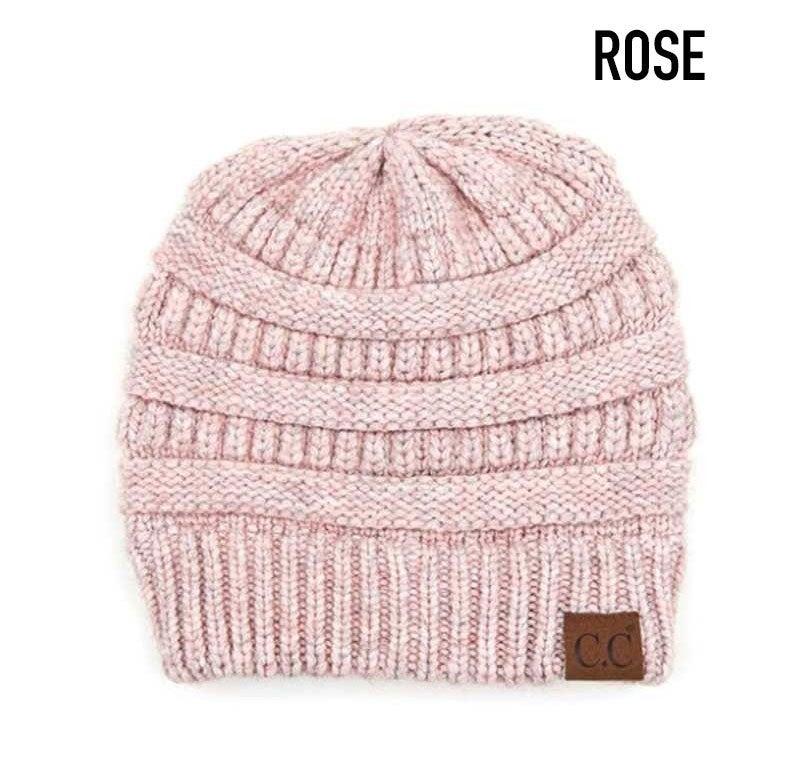 Soft yarn knit C.C. beanie