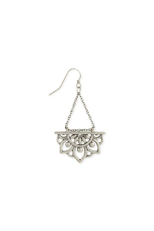 Dangle boho mandala earrings