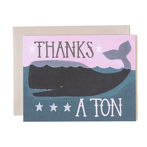 """Thanks a Ton"" Greeting  Card"