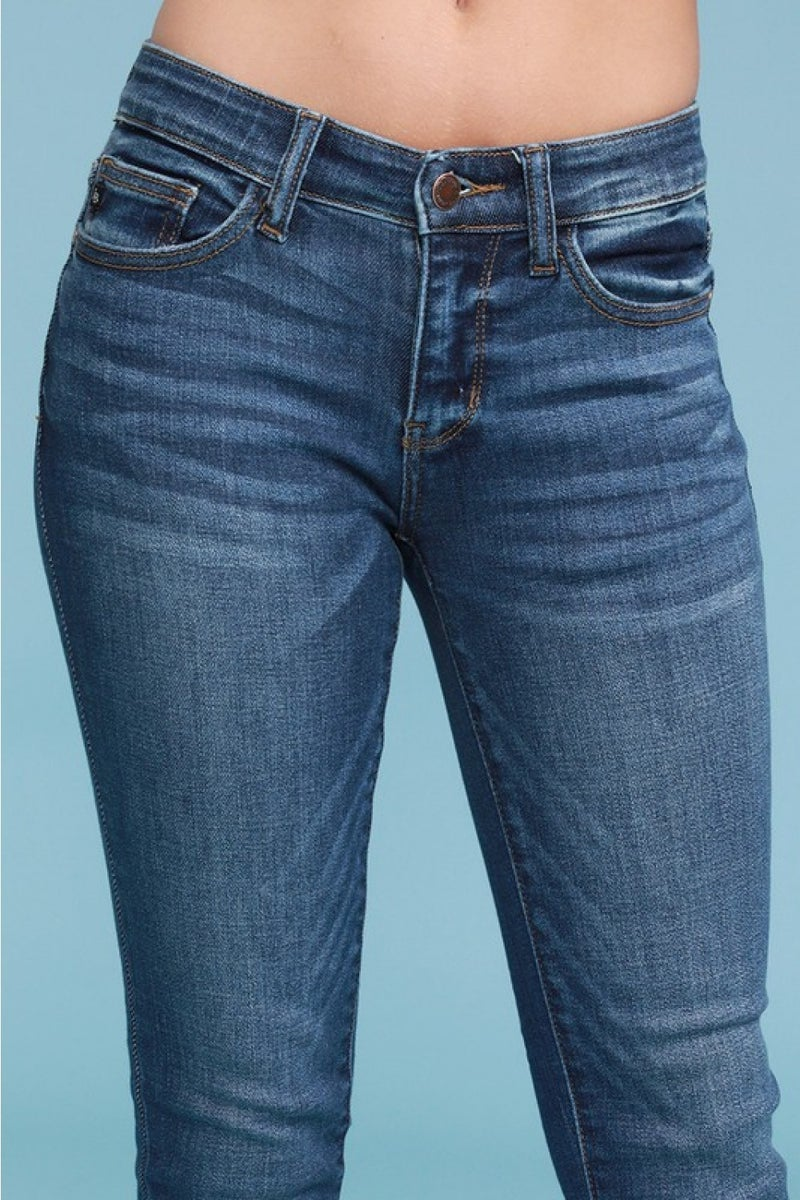 Judy Blue Mid-rise Handsand Skinny Jeans