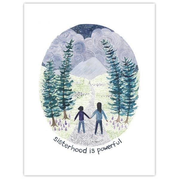 'Sisterhood is powerful' greeting card