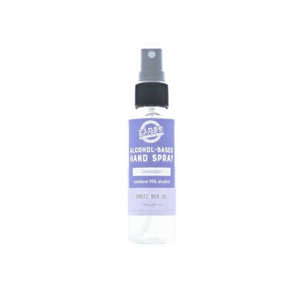 Alcohol-based essential oil hand spray : Rinse Bath Body Inc