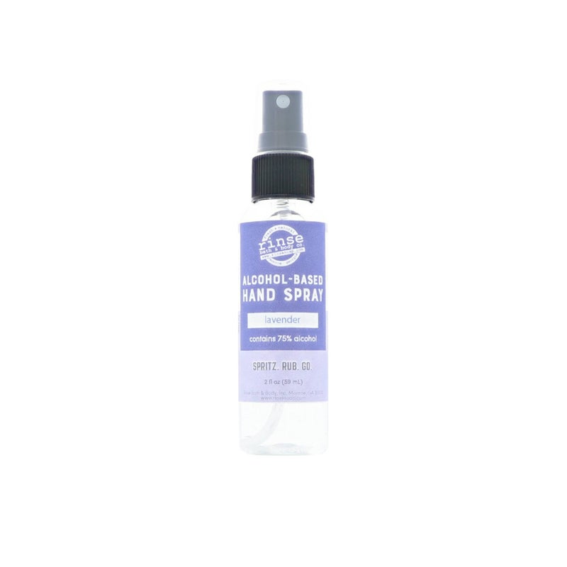 Alcohol-based essential oil hand spray : Rinse Bath Body Inc