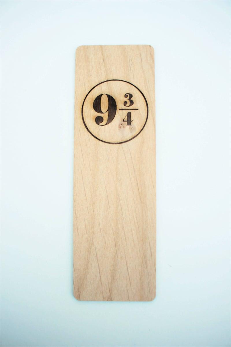 Harry Potter 9 3/4 Wood Bookmark